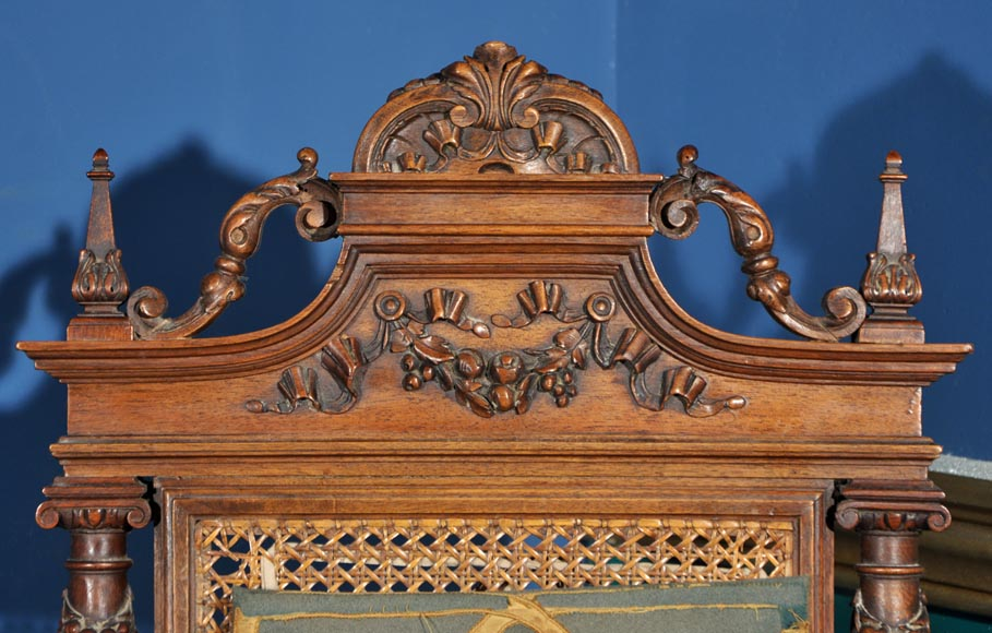 Eugène Frager, Meynard Manufacture (cabinetmaker), Ferdinand Barbedienne (bronze manufacturer), Louis-Constant Sevin (ornemanist) - Exceptional Neo-Renaissance style dining room set made out of carved walnut-17