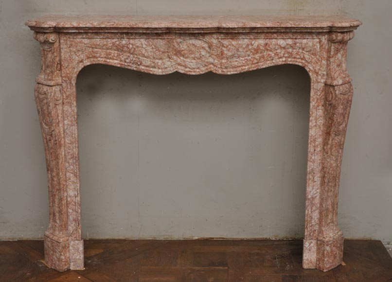 Antique Pompadour Louis XV style fireplace  - Reference 1749