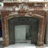 Antique Louis XIV style mantel in Red of the North marble