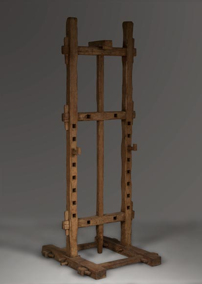 Antique oak wood easel, 1940's-0