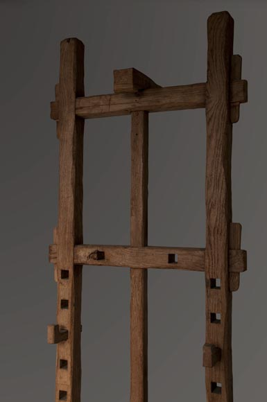 Antique oak wood easel, 1940's-1