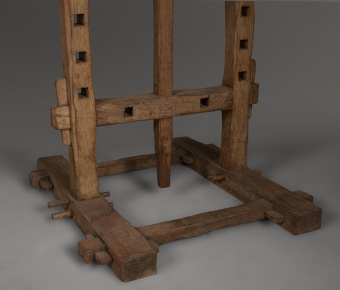 Antique oak wood easel, 1940's-2