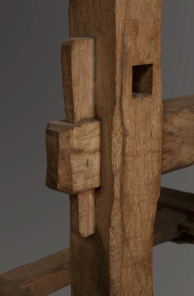 Antique oak wood easel, 1940's-3