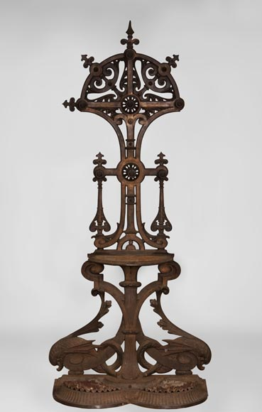 Christopher DRESSER (1834-1904) - Rare cast iron hall stand-0