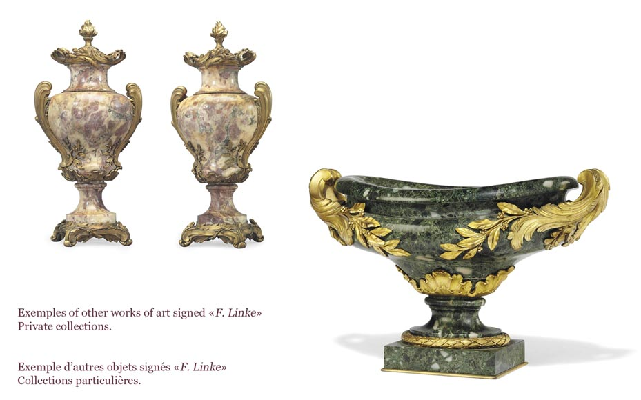 François LINKE (1855-1946) (Att. to), A pair of ormolu-mounted Green Antique marble vases-6