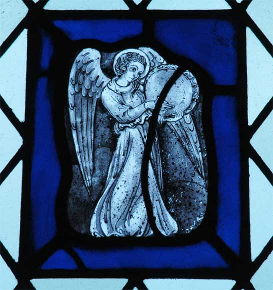 Four stained glasses with greyness angels - Reference 1867