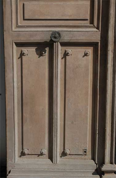 Large antique double door with ironwork decoration doors for Antique door decoration