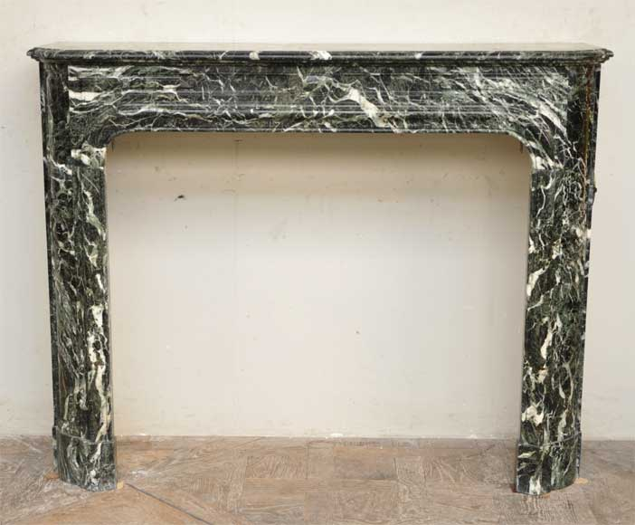 Antique Louis XIV style fireplace in Vert des Alpes marble - Reference 2007