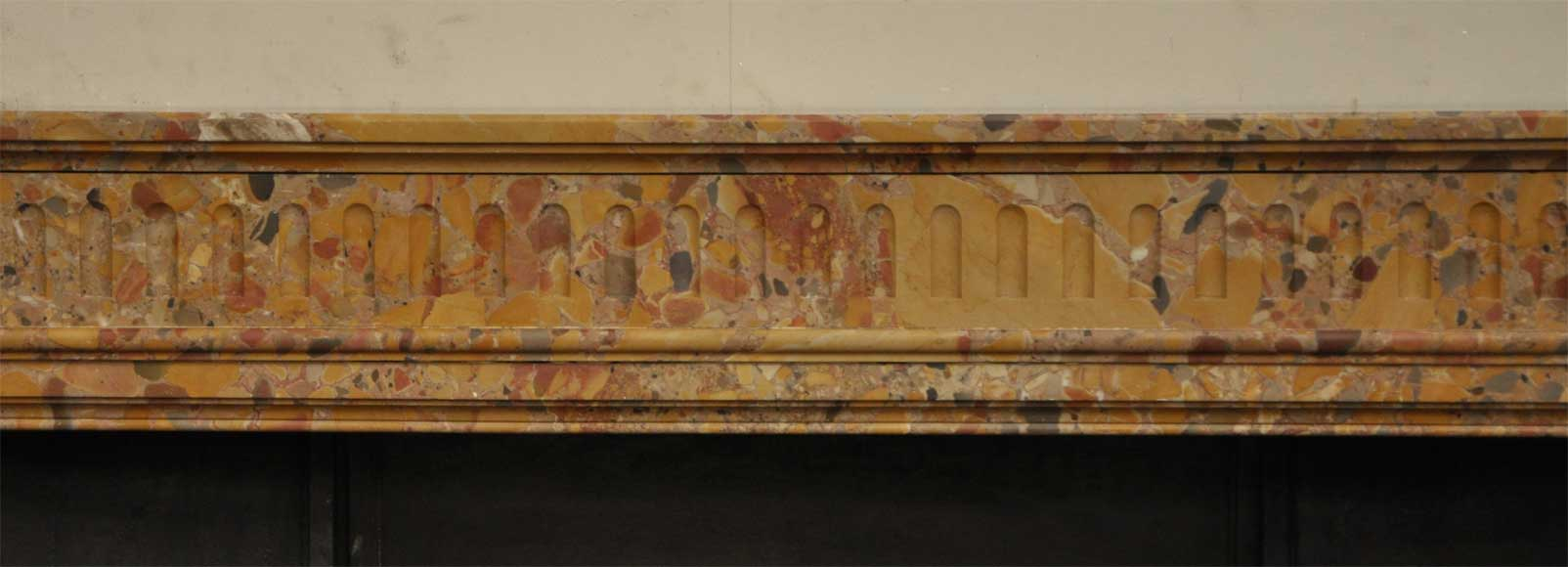 Antique Louis XVI style fireplace in Breche marble from Alep -1