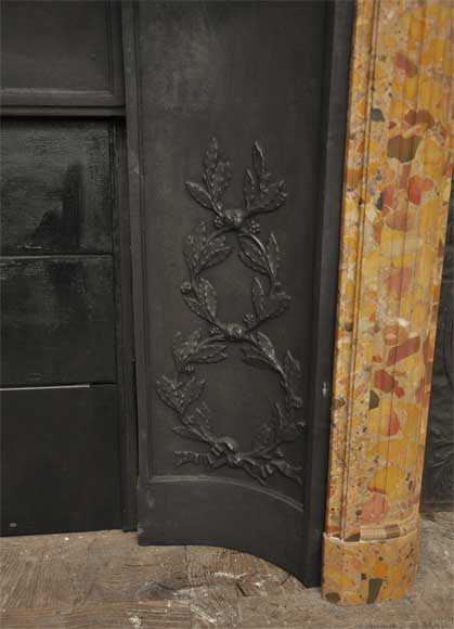 Antique Louis XVI style fireplace in Breche marble from Alep -6