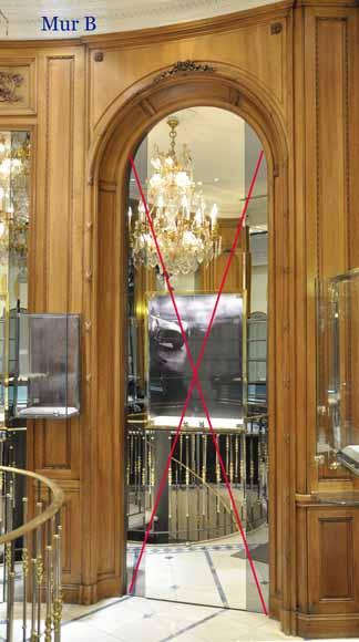 English Paneled Room: Antique Walnut Paneled Room Louis XVI Style