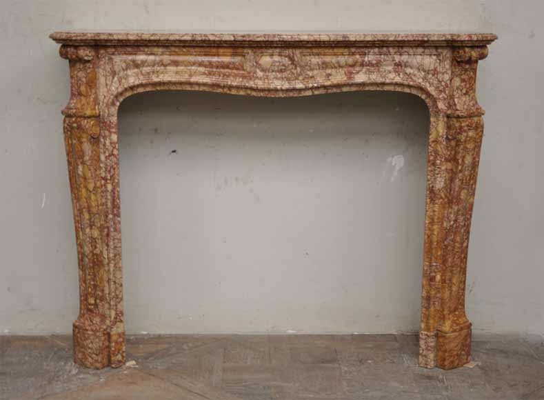 Antique Pompadour style fireplace in Trets marble - Reference 2078