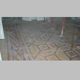 Antique parquet floor, inlaid with mahogany and sycamore