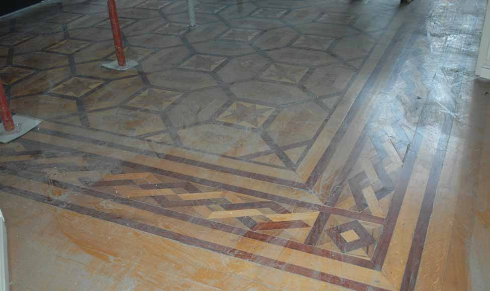 Antique parquet floor, inlaid with mahogany and sycamore-3