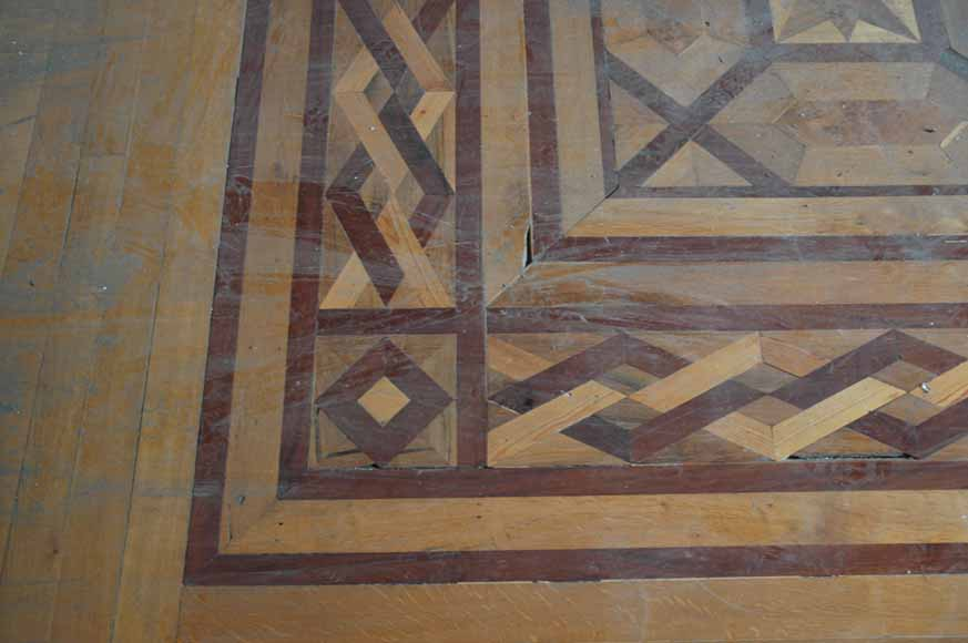 Lot of 22.5 m2 of antique mahogany inlaid parquet, burr walnut root and sycamore-6
