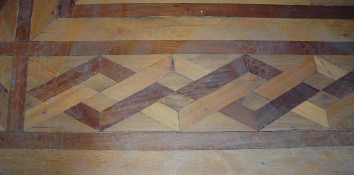 Lot of 22.5 m2 of antique mahogany inlaid parquet, burr walnut root and sycamore-7