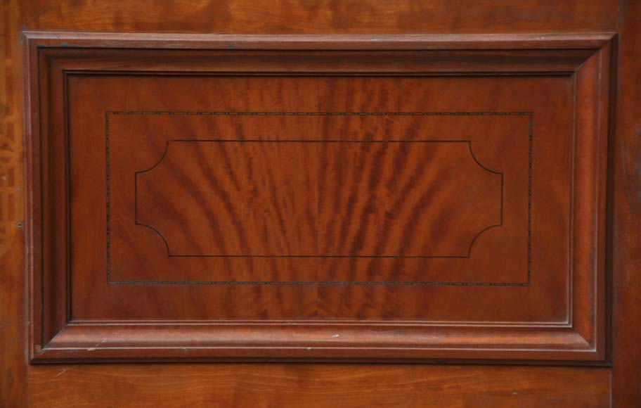One double-door and two doors made out of mahogany with marquetry frieze decoration-3