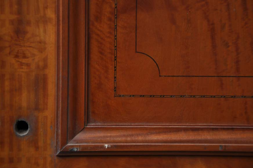 One double-door and two doors made out of mahogany with marquetry frieze decoration-4