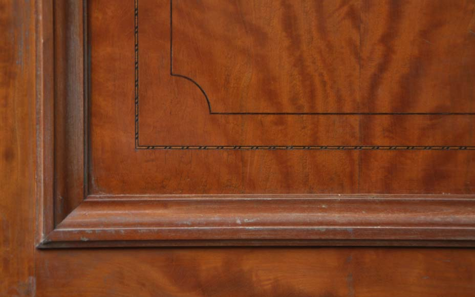 One double-door and two doors made out of mahogany with marquetry frieze decoration-5