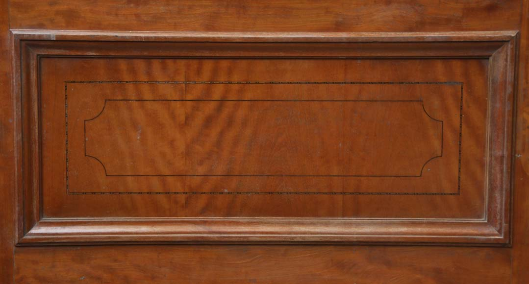 One double-door and two doors made out of mahogany with marquetry frieze decoration-6