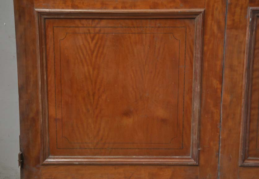 One double-door and two doors made out of mahogany with marquetry frieze decoration-7