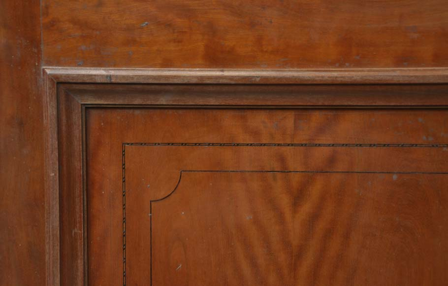 One double-door and two doors made out of mahogany with marquetry frieze decoration-8
