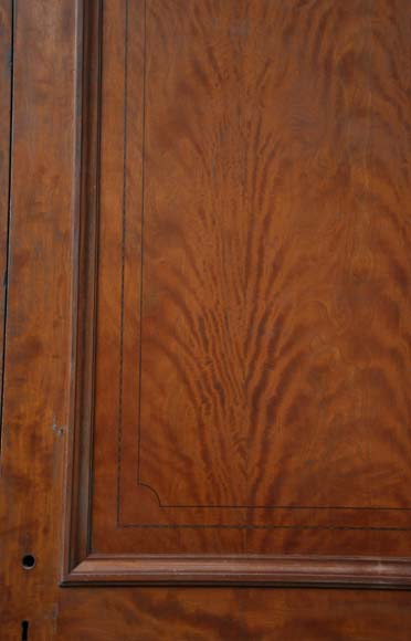 One double-door and two doors made out of mahogany with marquetry frieze decoration-9