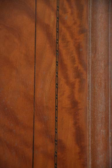 One double-door and two doors made out of mahogany with marquetry frieze decoration-10