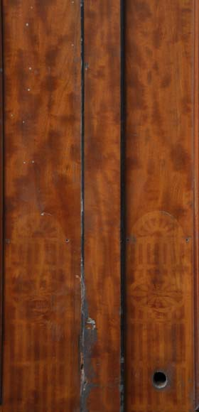 One double-door and two doors made out of mahogany with marquetry frieze decoration-11