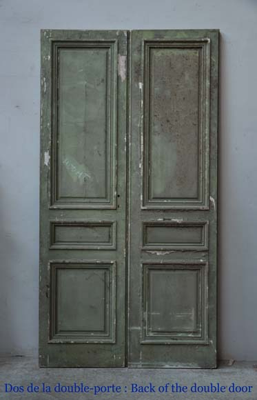One double-door and two doors made out of mahogany with marquetry frieze decoration-13