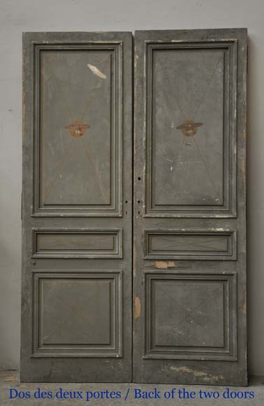 One double-door and two doors made out of mahogany with marquetry frieze decoration-14
