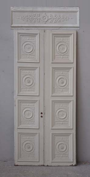 Double neo-classic door based on a drawing by Percier and Fontaine - Reference 2119