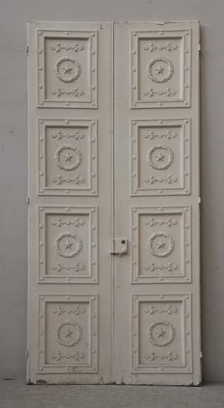 Double neo-classic door based on a drawing by Percier and Fontaine-7