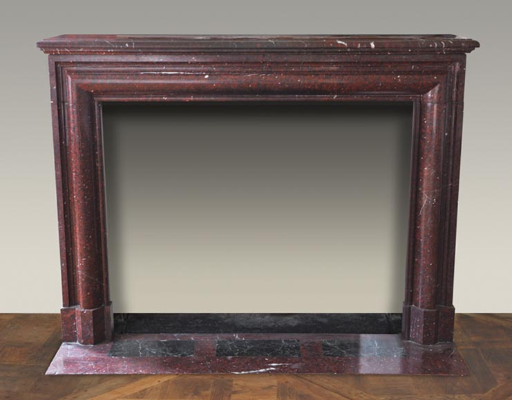 Antique Louis XIV style fireplace made out of Griotte Red marble-0