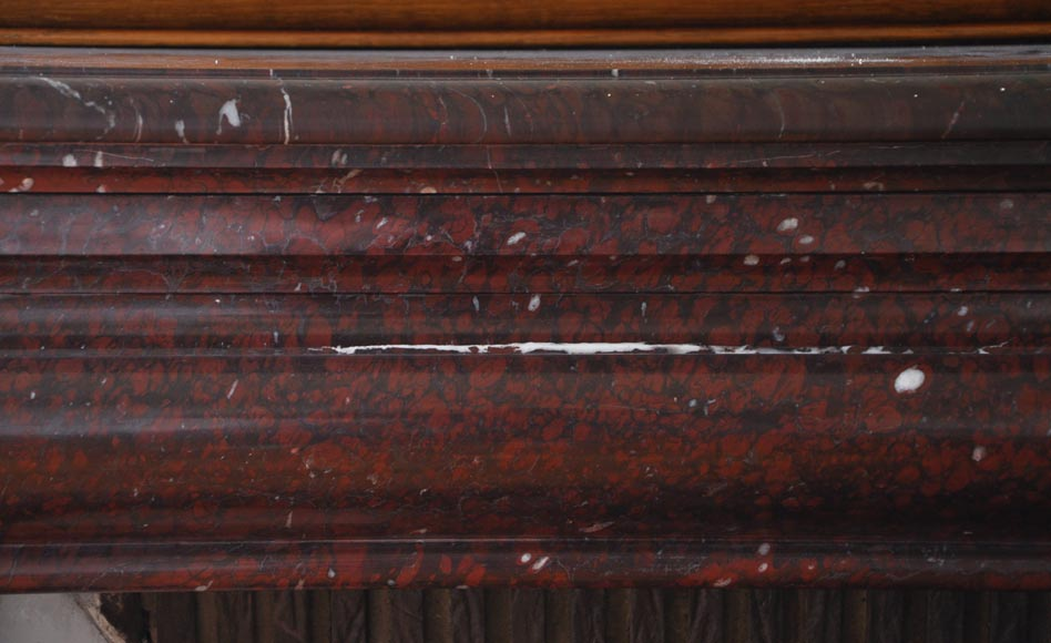 Antique Louis XIV style fireplace made out of Griotte Red marble-1