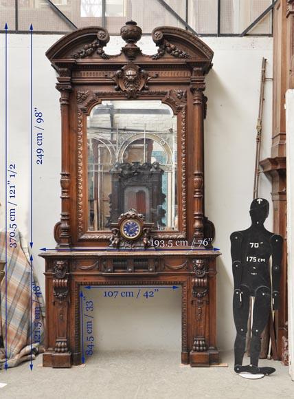 Extraordinary antique oak wood Napoleon III style ...