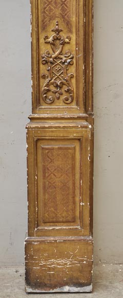 Pair of golden oak pilasters from the 18th century-10