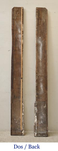 Pair of golden oak pilasters from the 18th century-13