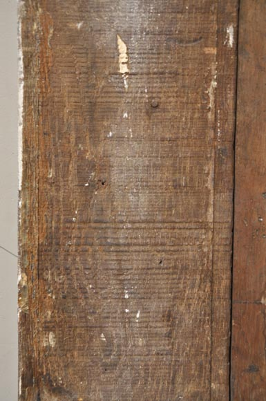 Pair of golden oak pilasters from the 18th century-14