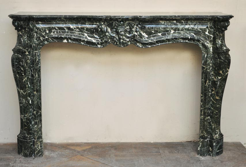 Antique Louis XV style fireplace in Sea Green marble - Reference 2291