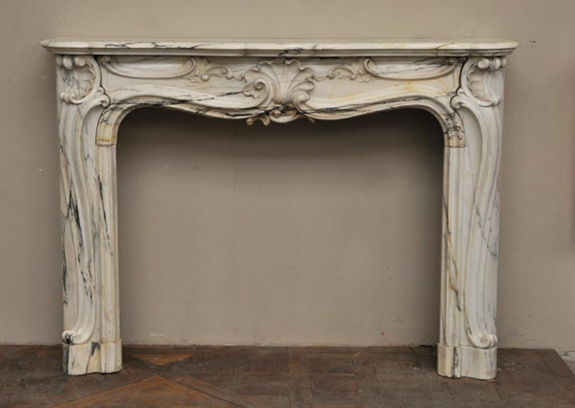 Antique Louis XV style fireplace in Panazeau marble - Reference 2294