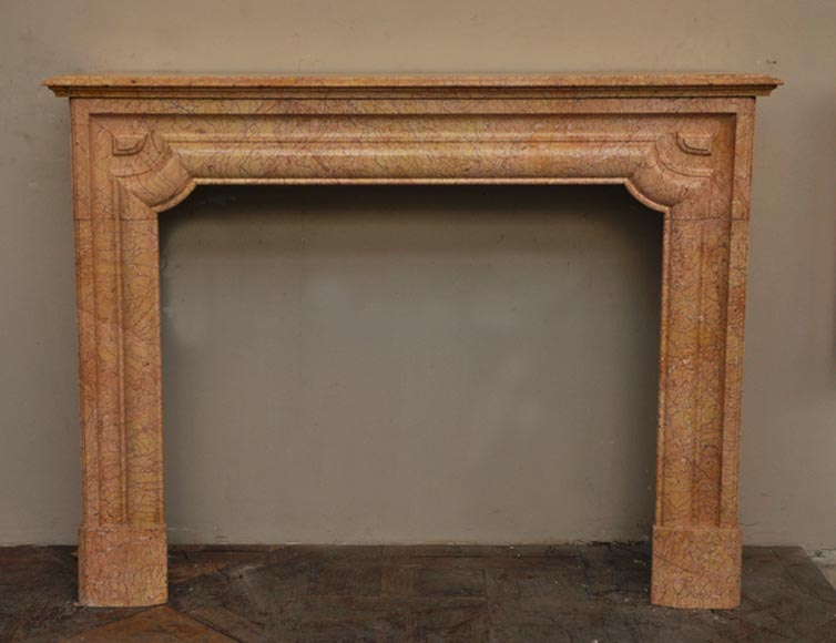 Antique Louis XIV style fireplace in yellow Brocatelle marble - Reference 2303