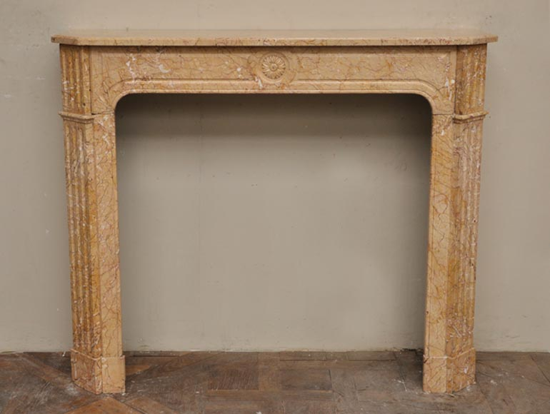 Antique Napoleon III style fireplace in Yellow Brocatelle - Reference 2320