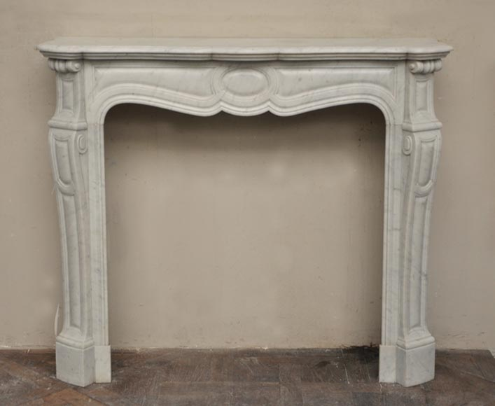 Antique Pompadour model fireplace in Carrara marble - Reference 2393