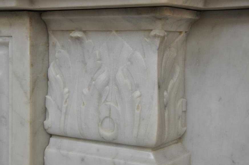 Exceptional Antique Regence Style Fireplace In White