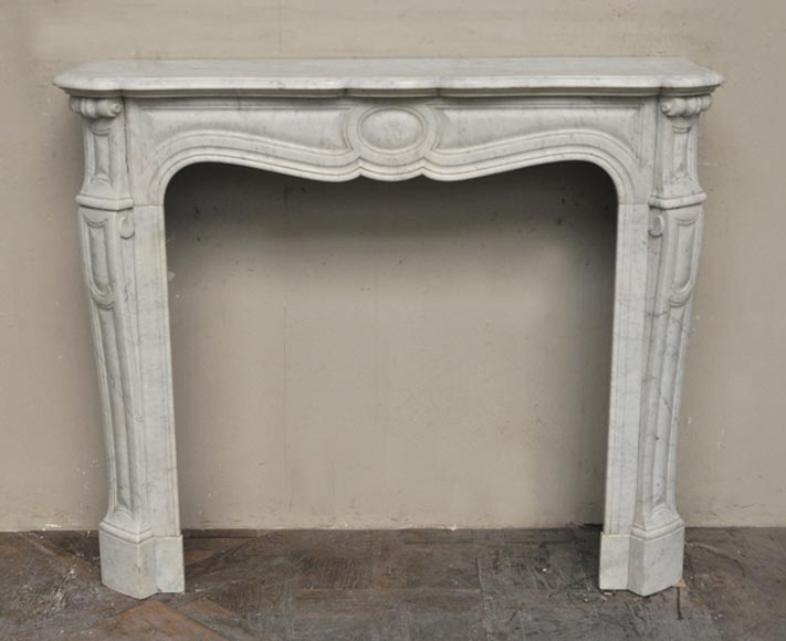 Antique Pompadour model fireplace in Carrara marble - Reference 2453