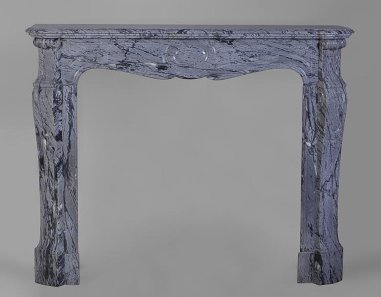 Small Pompadour mantel in Bleu Fleuri marble - Reference 2457