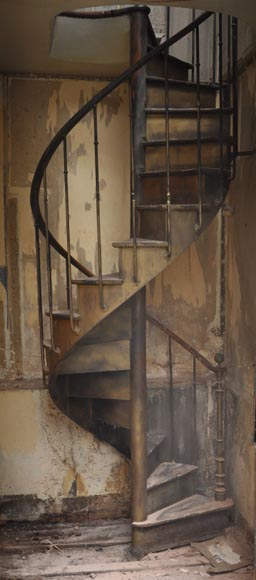 Antique Wood Spiral Staircase Stairs And Banisters