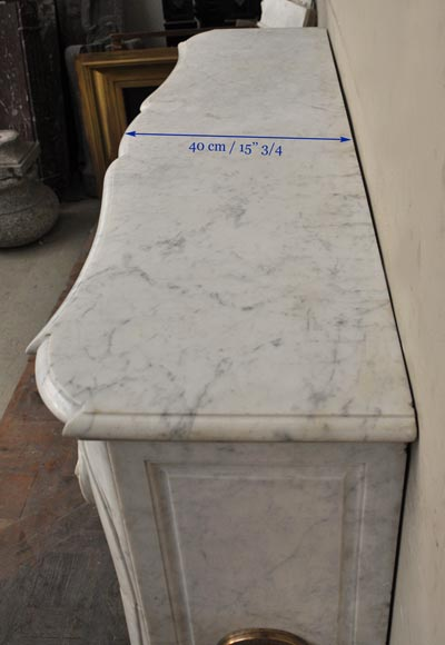 Beautiful Antique Regence Style Fireplace With Foliated Decor In - Does carrara marble stain