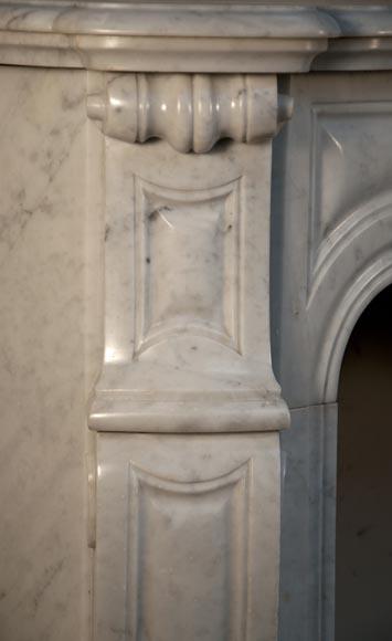 Antique Pompadour Fireplace Made Out Of White Carrara